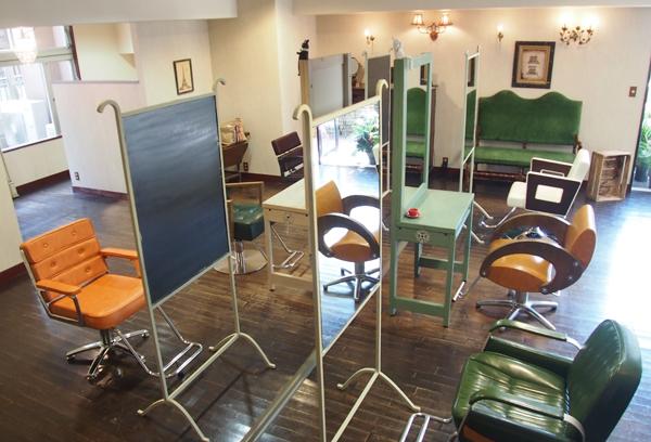 柏の美容室Ameri 店内の様子 セットスペース